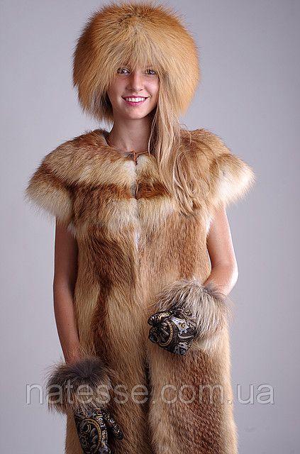 Golden fox wool-padded fur cap (leather top) kubanka with golden fox fur trimmed mittens  Price of set  $330/ €239     Price of the fur cap alone  $230/ €169    Delivery worldwide   Меховая шапка кубанка из меха лисы, верх кожаный, утеплена шерстипоном