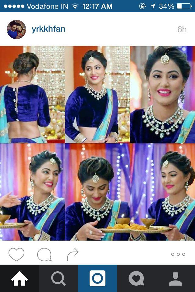 Akshara Hairstyle Pinterest Hair Style Saree And Makeup