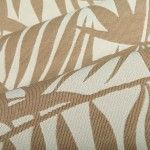 Palm Frond Outdoor Upholstery Fabric in Cocoa Tan has a tropical pattern perfect for the patio or a themed interior design. Durable and ready for high traffic, this American made 100% High UV Polyester has a width of 54″ and a repeat of 16″ X 16″