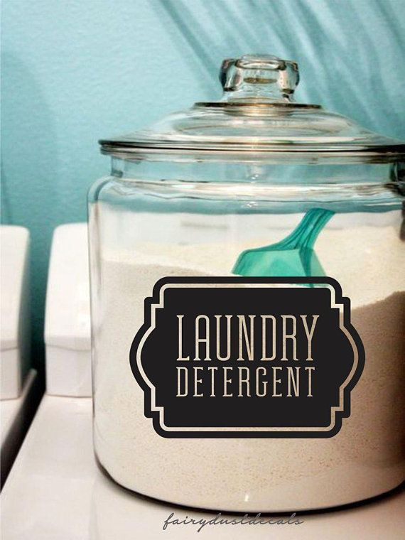 Laundry Soap Decal Laundry Detergent Canister Sticker Laundry