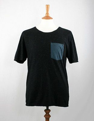 Uniforms for the Dedicated The Serenade T-Shirt -Black/Yellow Melange RRP £47.50 | eBay