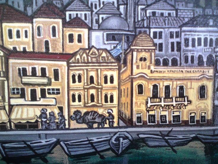 Η Σμύρνη (ελαιογραφία του Λεωνίδα Μπουλγκάρι, 1997)