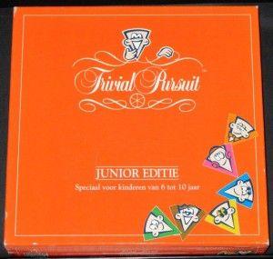 Trivial Pursuit - Junior Editie voor 6 tot 10 jaar (1993). Bij Sassafrass Store op voorraad - € 8,50