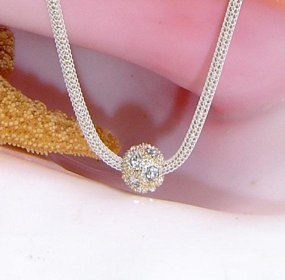 Swarovski Gold Pave Crystal Necklace by TURTLECOAST on Etsy, $30.00