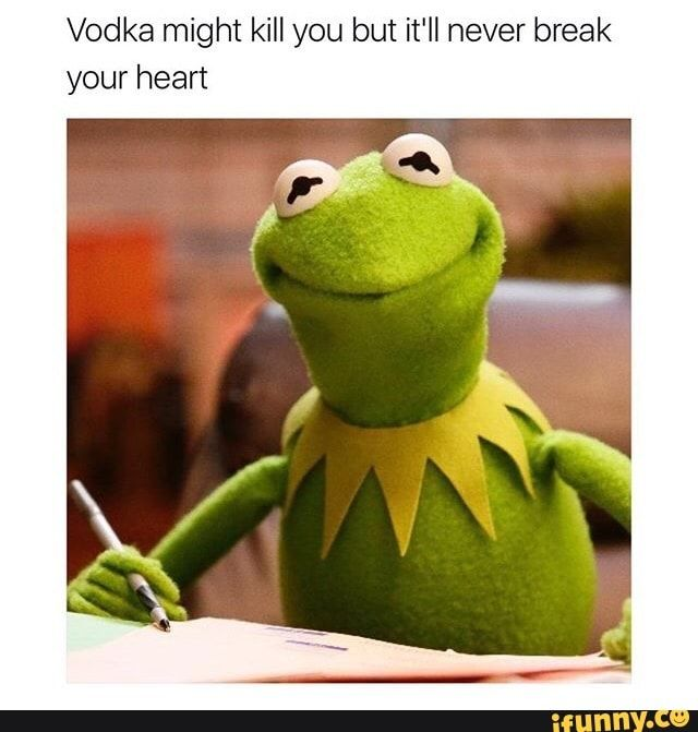 Vodka Might Kill You But It Ll Never Break Your Heart Ifunny In 2021 Funny Memes Funny Memes