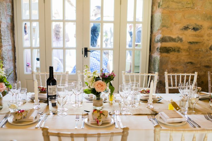 Table settings at Wedderburn Barns