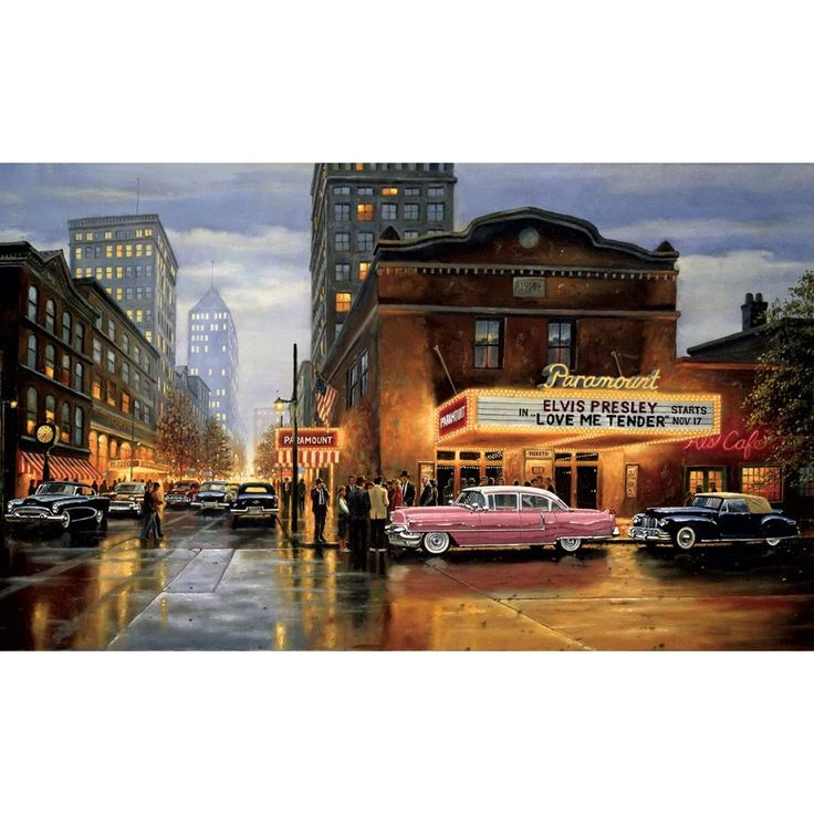 Paramount Movies Evening Giant Wallpaper Accent Mural