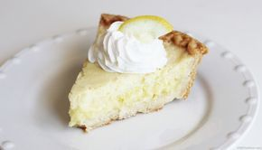 Dairy-Free Lemon Custard Pie - only 5 ingredients and under 300 calories per serving