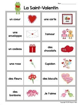 Image result for french valentine's day words