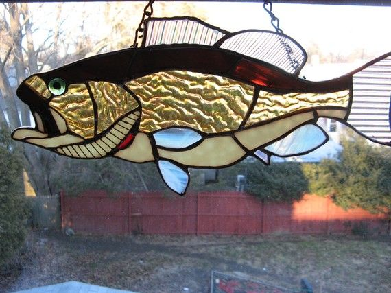 214 best images about stained glass turtles fish for Gifts for fishing lovers