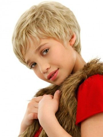 Short Shag style Front Lace Kids Wig