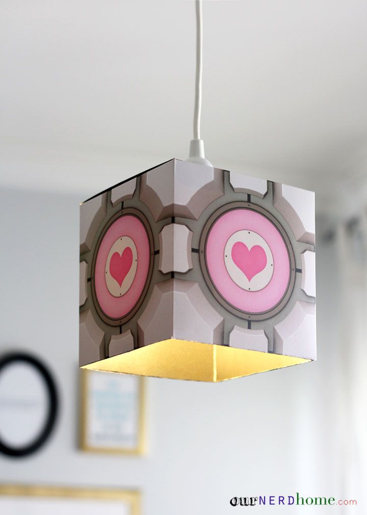 DIY Portal Companion Cube Pendant Lamp (Tutorial).