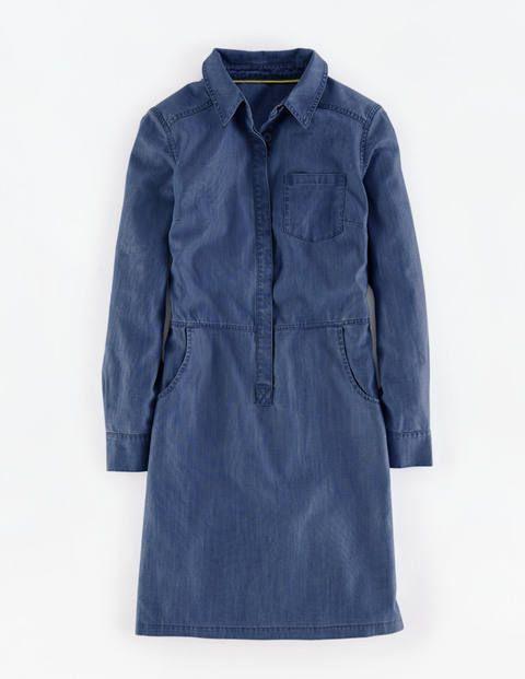 Hemdblusenkleid aus Cord und Denim WH938 Casualkleider bei Boden