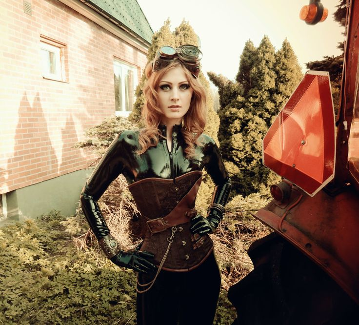 Latex rubber catsuit steampunk #5 by Miss3v1L.deviantart.com on @deviantART