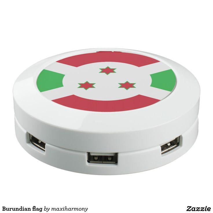 Burundian flag USB charging station