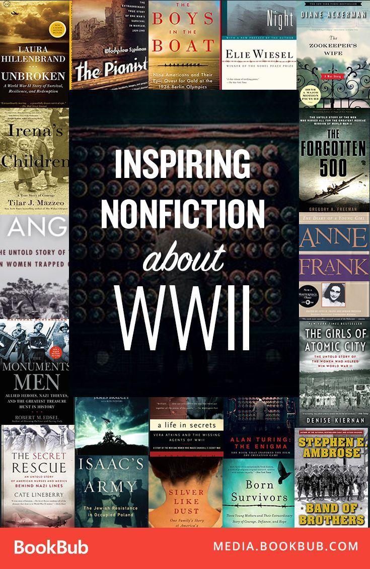 Check out these inspiring nonfiction books about World War II. If you love historical fiction about WWII, these history books are worth a read.