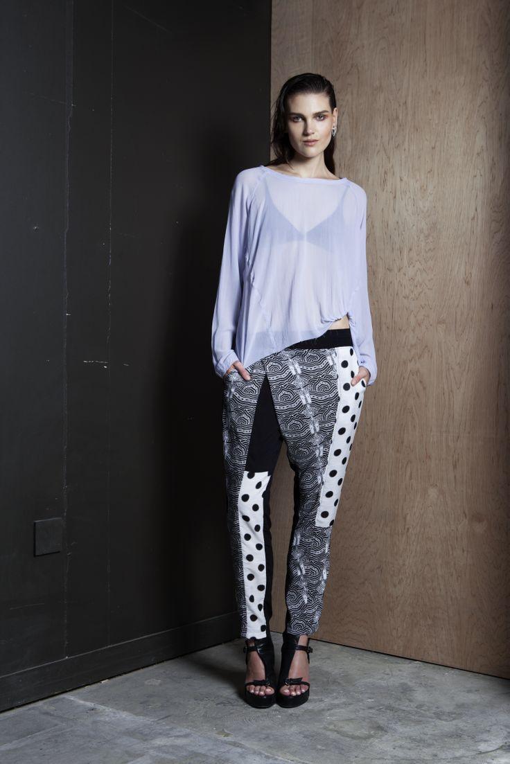 Silent Sweatshirt | She's in Party Pants  #print #handsprint #spot #oversized #nzmade #summer #companyofstrangers