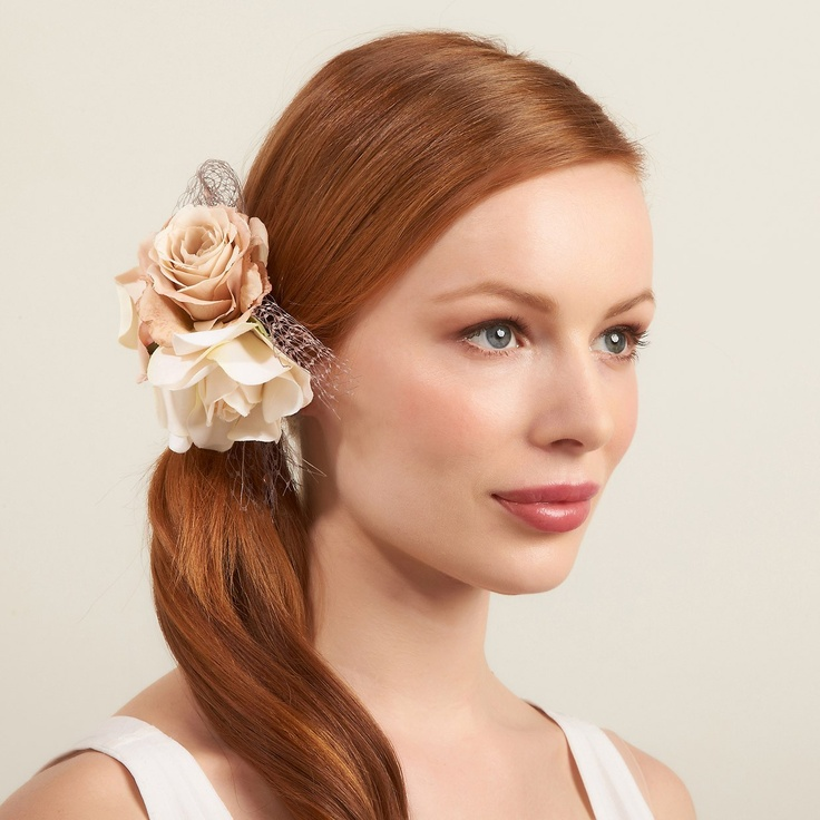 What is a girl to do with unkempt hair during Christmas party season? Wear the Mimco Floral Bloom Barrette and be transformed into a serene goddess. Mimco and this beautiful piece can be found at the QVB