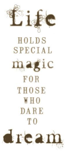 It's so true! There is magic and power in dreaming BIG and creating a amazing vision for yourself. Believe me, dreaming big might be scary but it's worth it..bc I'm living mine:)