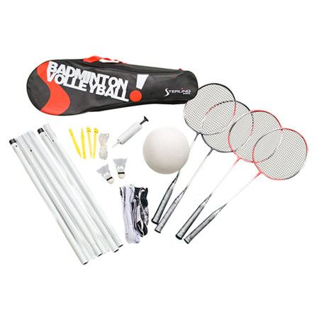 17-Piece Sterling Badminton & Volleyball Game Set