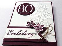 Die 25+ besten Ideen zu Einladung 80. Geburtstag auf Pinterest | Einladung zum 80 geburtstag ...