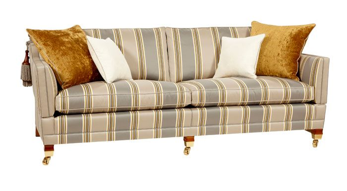Comforting and calm - is there anything better than good old stripes?? #trafalgar #duresta #stripes