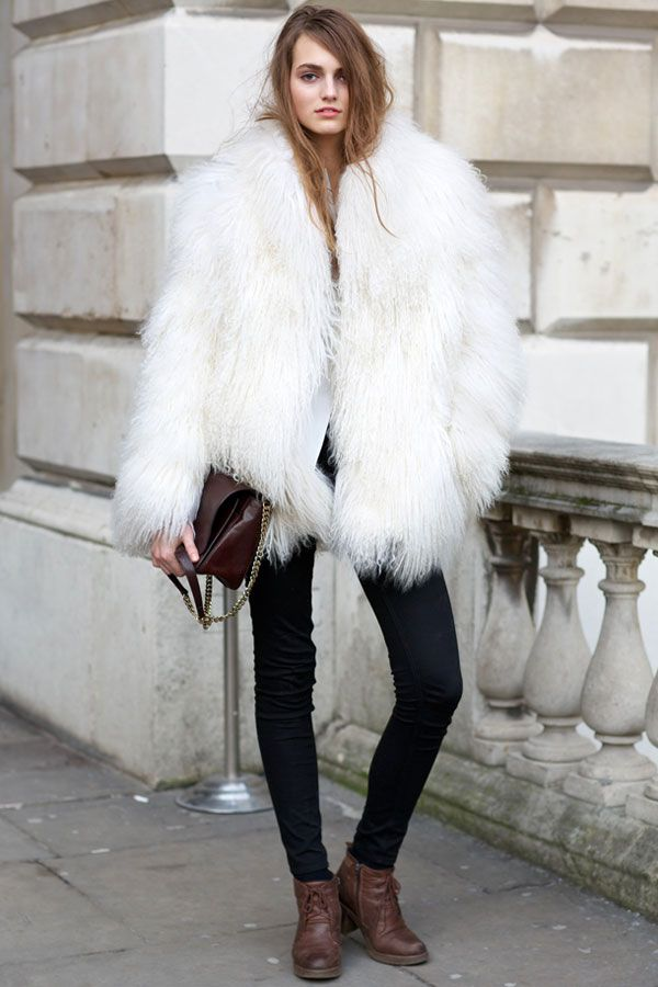 Best 25  White faux fur coat ideas on Pinterest | White fur coat ...