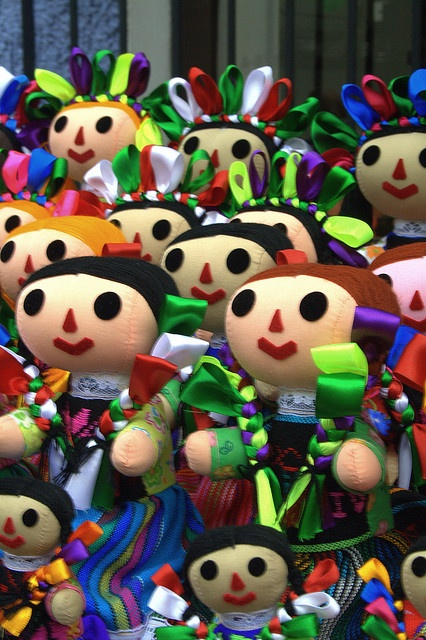 Beautiful Mexican Dolls - my student gave one to me when she came back from mexico