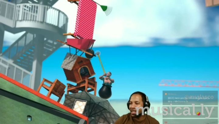 Getting over the past like… ⛰⛏😲  🔊🎶 Fallin' by Alicia Keys  #Gaming #GettingOverIt #FAIL #Psychological #Horror #Musically