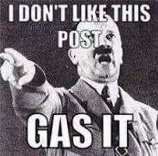 Don't like a post? There's a Hitler meme for that.