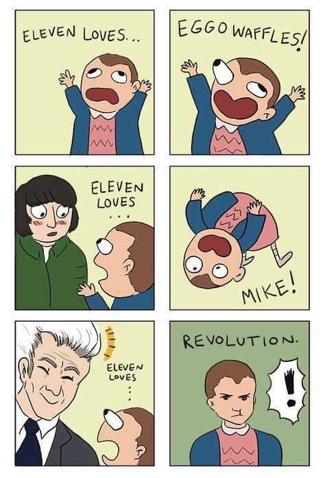 Image result for Eleven loves eggos