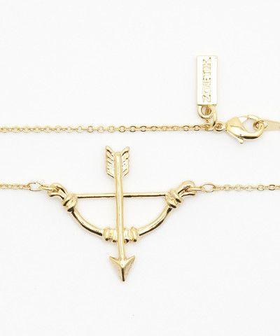 Bow/Arrow Gold Pendant Necklace. $ 40.00