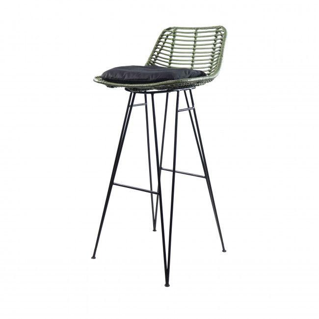 Capurgana Chaise De Bar Design En Rotin 75cm In 2020 Keuken
