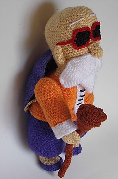 Maestro Muten Roshi Amigurumi (Personaje de Dragon Ball ...