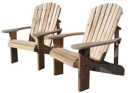 Adirondack Chair Kit 2 western red cedar by gardenfurnituremill, $200.00