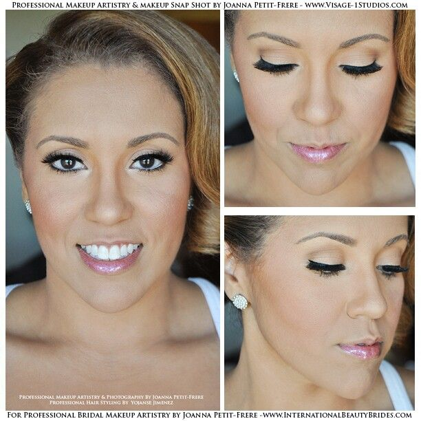 Wedding Makeup Winged Eyeliner : Another beautiful Bride! I used a shimmering champagne ...