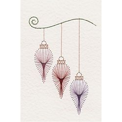 Christmas Baubles Prick and Stitch e-pattern
