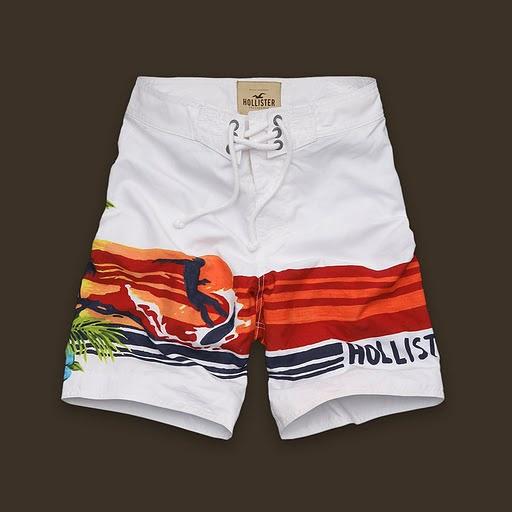 Sconto Hollister Uomini Moda Nuotare Breve Bianco 01 on sale.€24.74