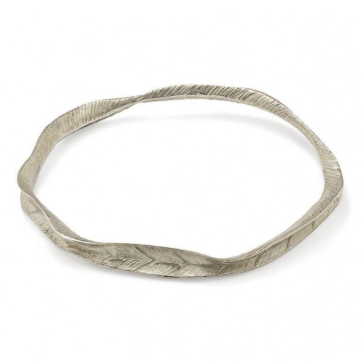 Fallen For You Leafprint Bangle - CRED Jewellery - Fairtrade Jewellery. Made in recycled sterling silver.