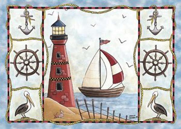 Figures Cutes Decoupage: Lighthouse