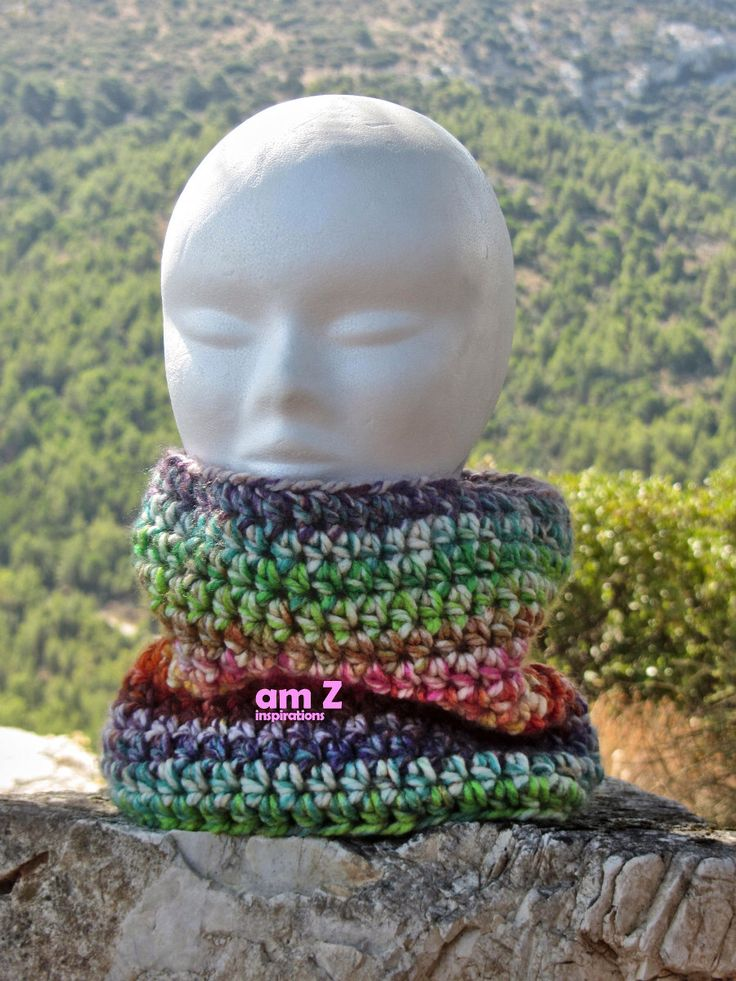 Multicolor crochet scarf, Multicolor crochet cowl, Chunky knit cowl, Chunky crochet scarves, Infinity loop, Neck warmer, Turtle neck. by amZinspirations on Etsy https://www.etsy.com/listing/260999012/multicolor-crochet-scarf-multicolor