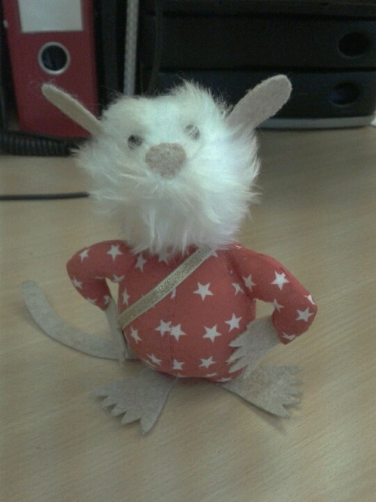 A hero rat! I made these to raise funds for mine-sniffing, tb identifying Herorats.