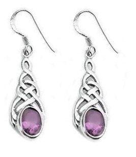 Sterling Silver Celtic Knot Amethyst Earrings at Francesca Fine Jewelry. Beautiful Celtic jewelry!