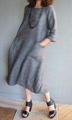 Lily Linen Dress Pattern - Print At Home or Copy Shop (PDF)