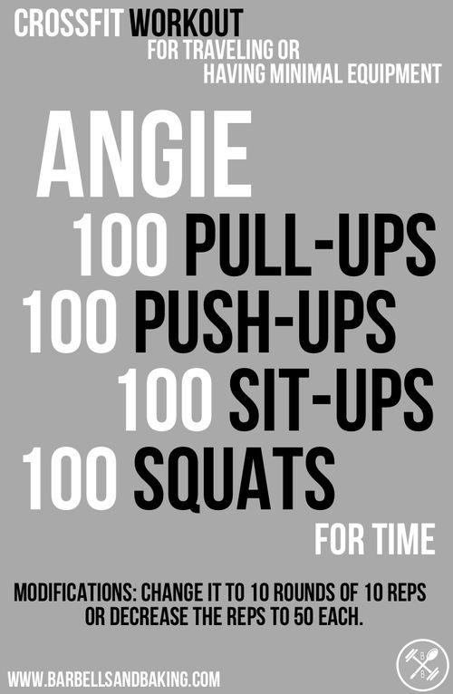 CrossFit Workout for Traveling or Having Minimal Equipment | Angie | Pull-ups, Push-ups, Sit-ups, & Squats | www.barbellsandbaking.com