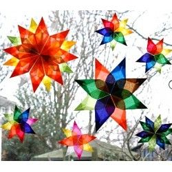Papier vitrail pour étoiles de fenetre