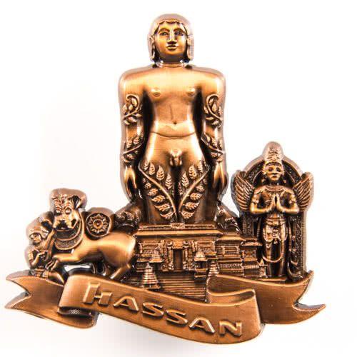 Metal Fridge Magnet: India. Karnataka. Hassan