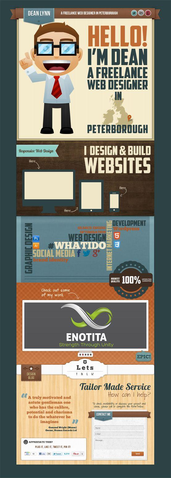 New Vintage Web Design Potfolio www.deanlynn.com #retrodesign #vintagedesign #webdesign