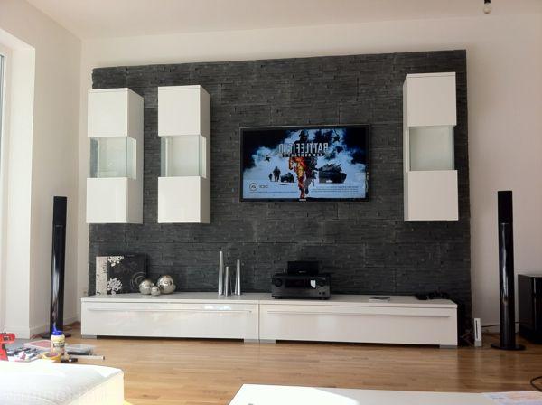 eine super modern gestaltete fernsehwand - Design Fernsehwnde