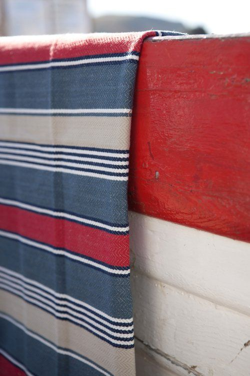 Nautical striped fabrics by William Yeoward for Designers Guild.